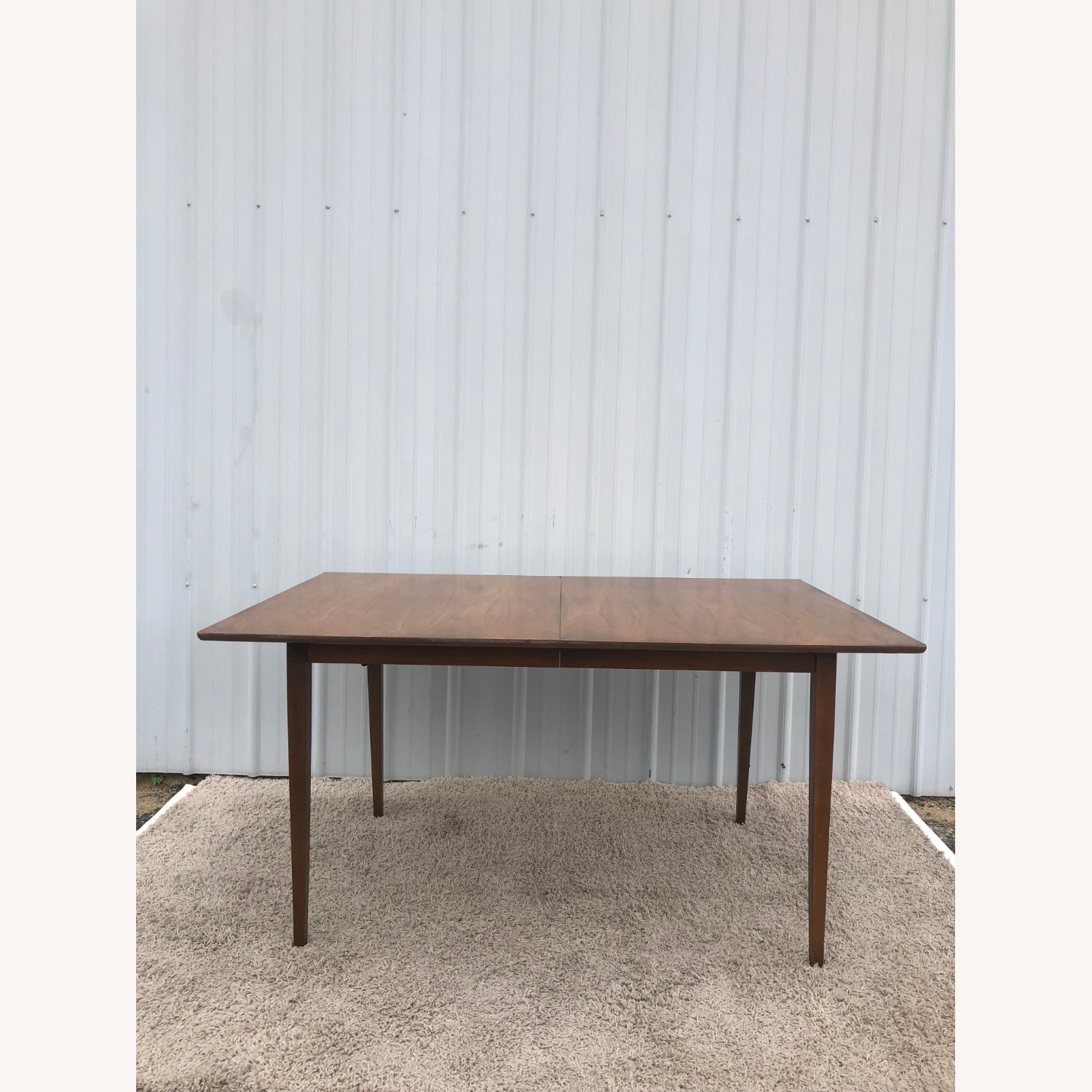 Mid Century Walnut Dining Table with 2 Leafs - image-3