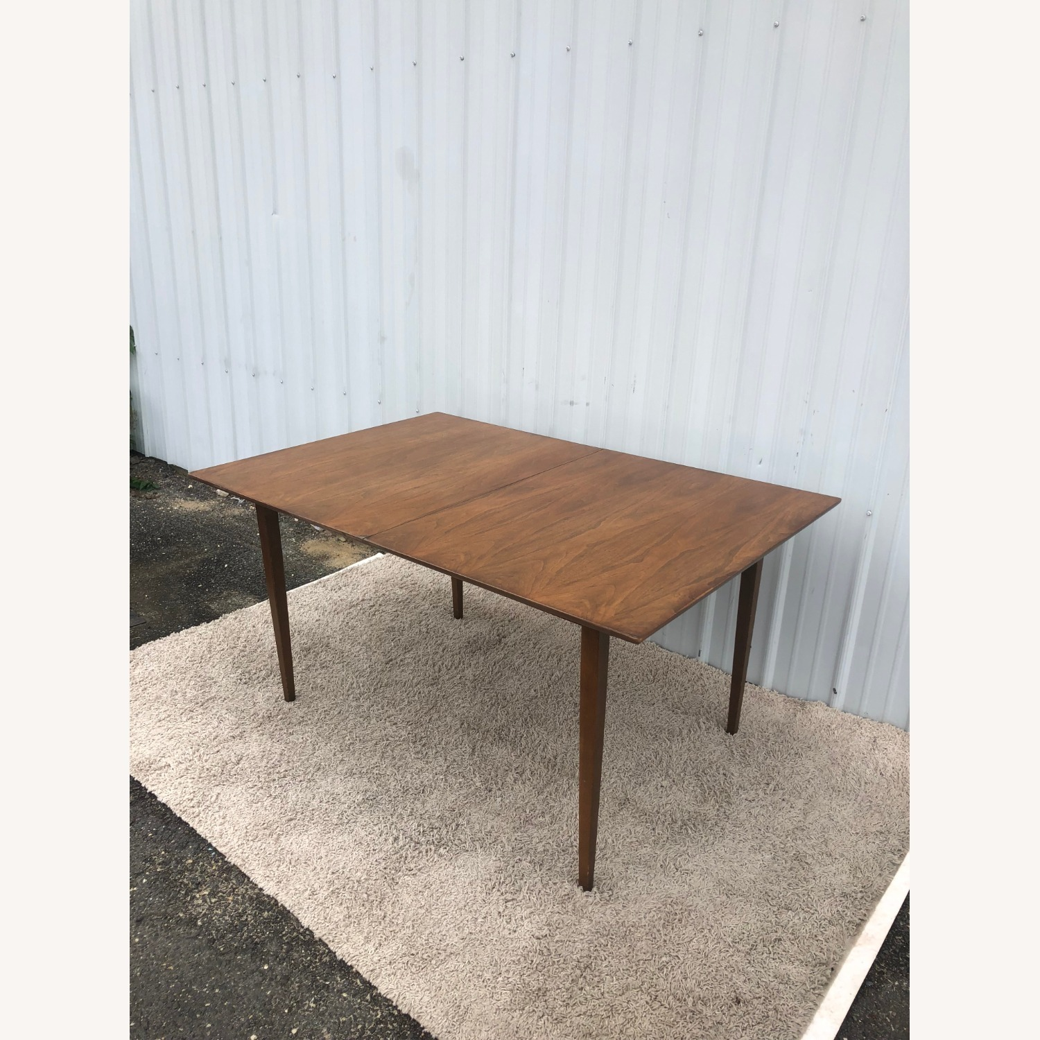 Mid Century Walnut Dining Table with 2 Leafs - image-2