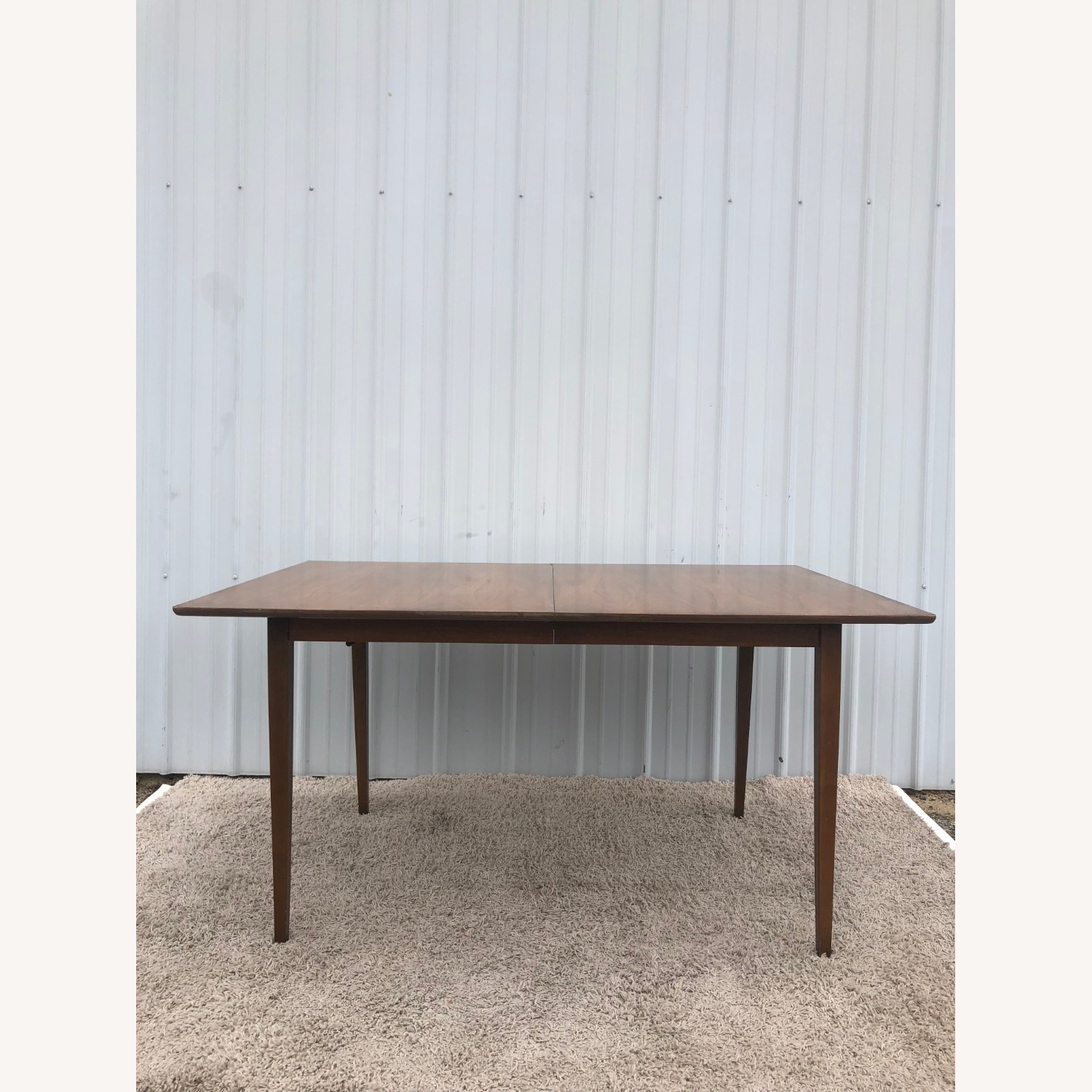 Mid Century Walnut Dining Table with 2 Leafs - image-0