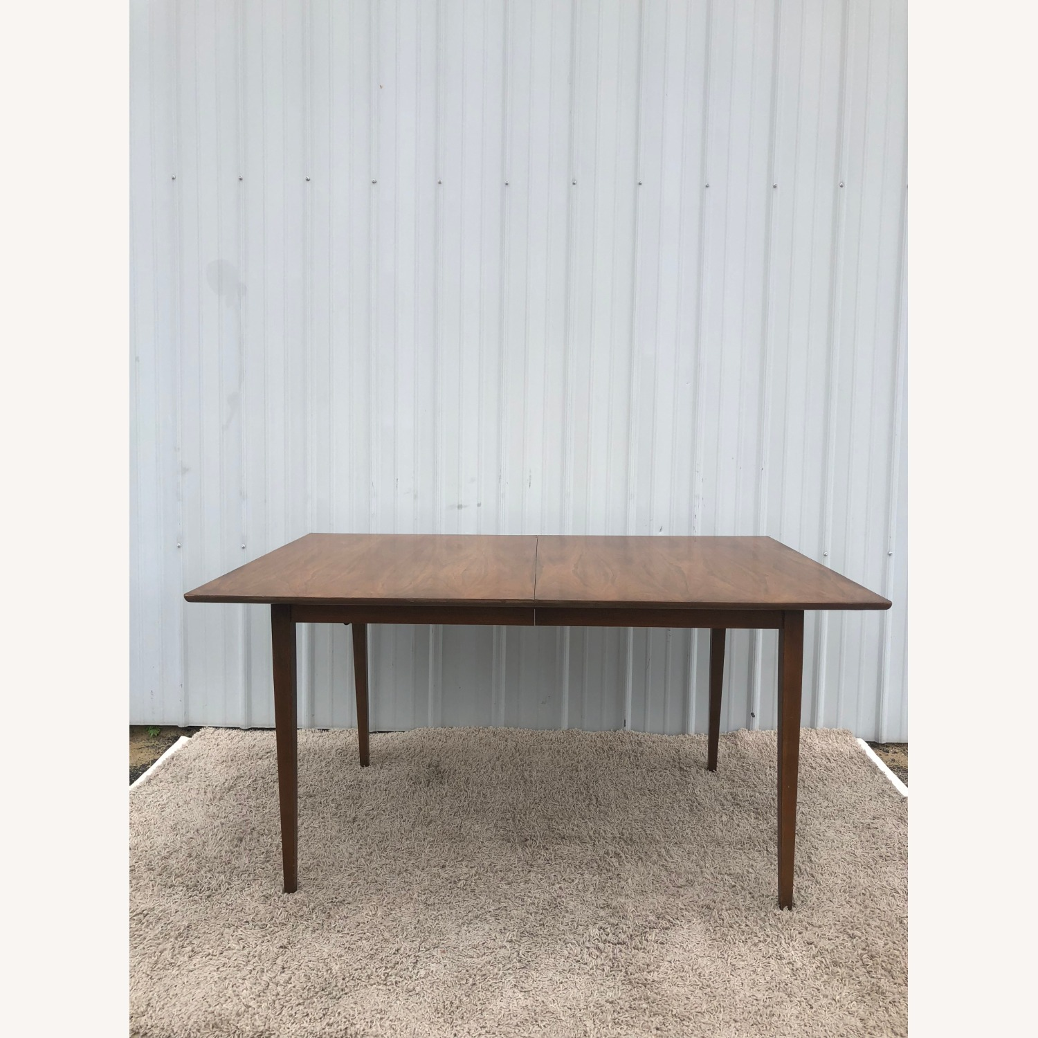 Mid Century Walnut Dining Table with 2 Leafs - image-6