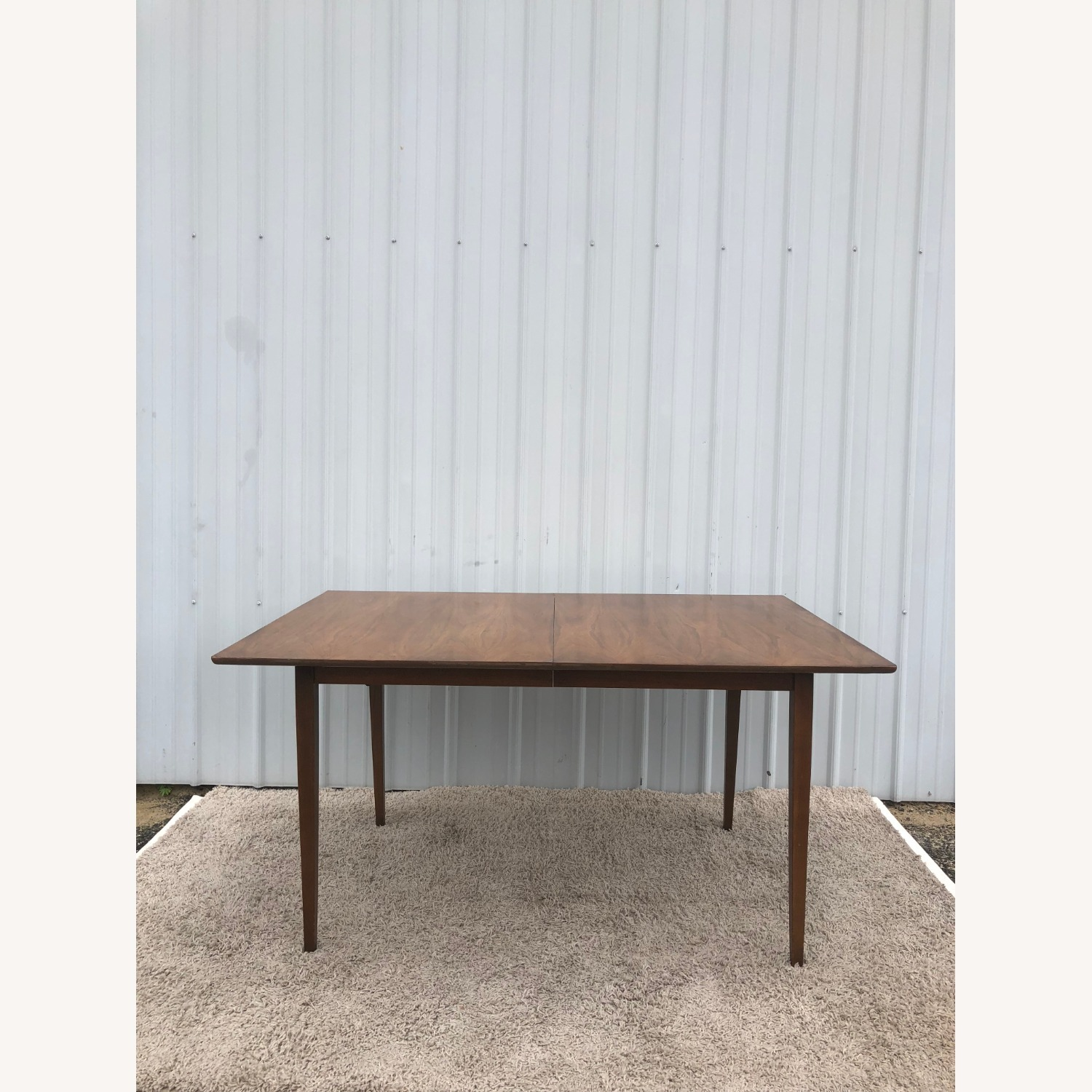 Mid Century Walnut Dining Table with 2 Leafs - image-12