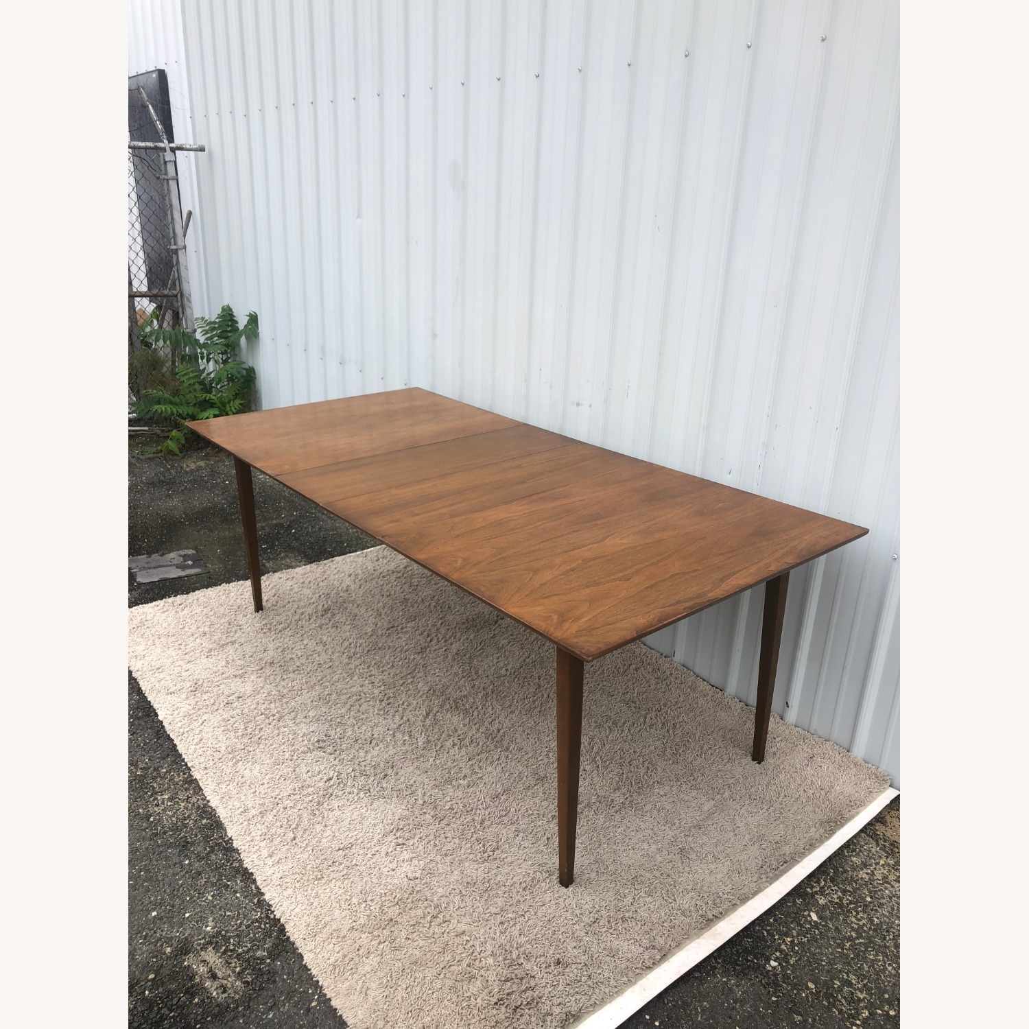 Mid Century Walnut Dining Table with 2 Leafs - image-22