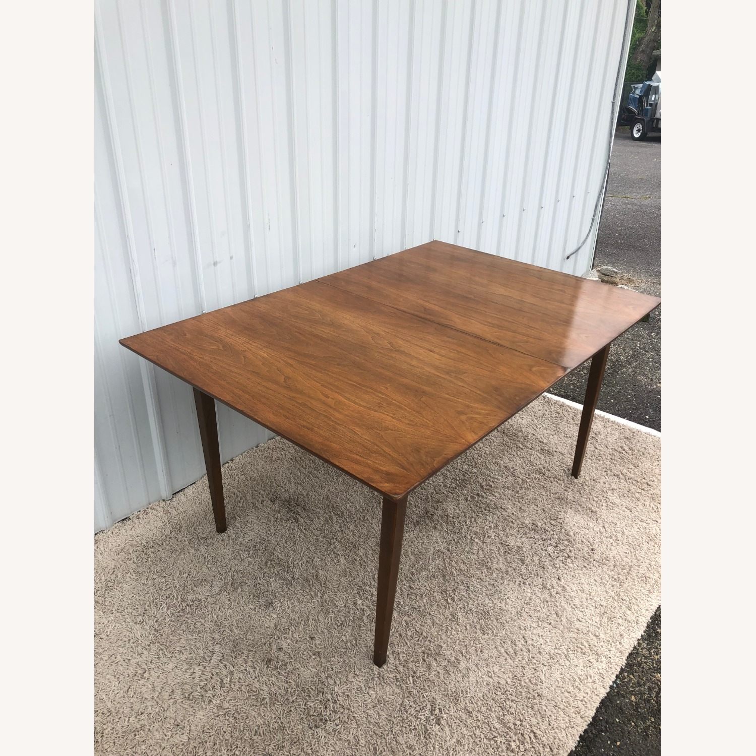 Mid Century Walnut Dining Table with 2 Leafs - image-8