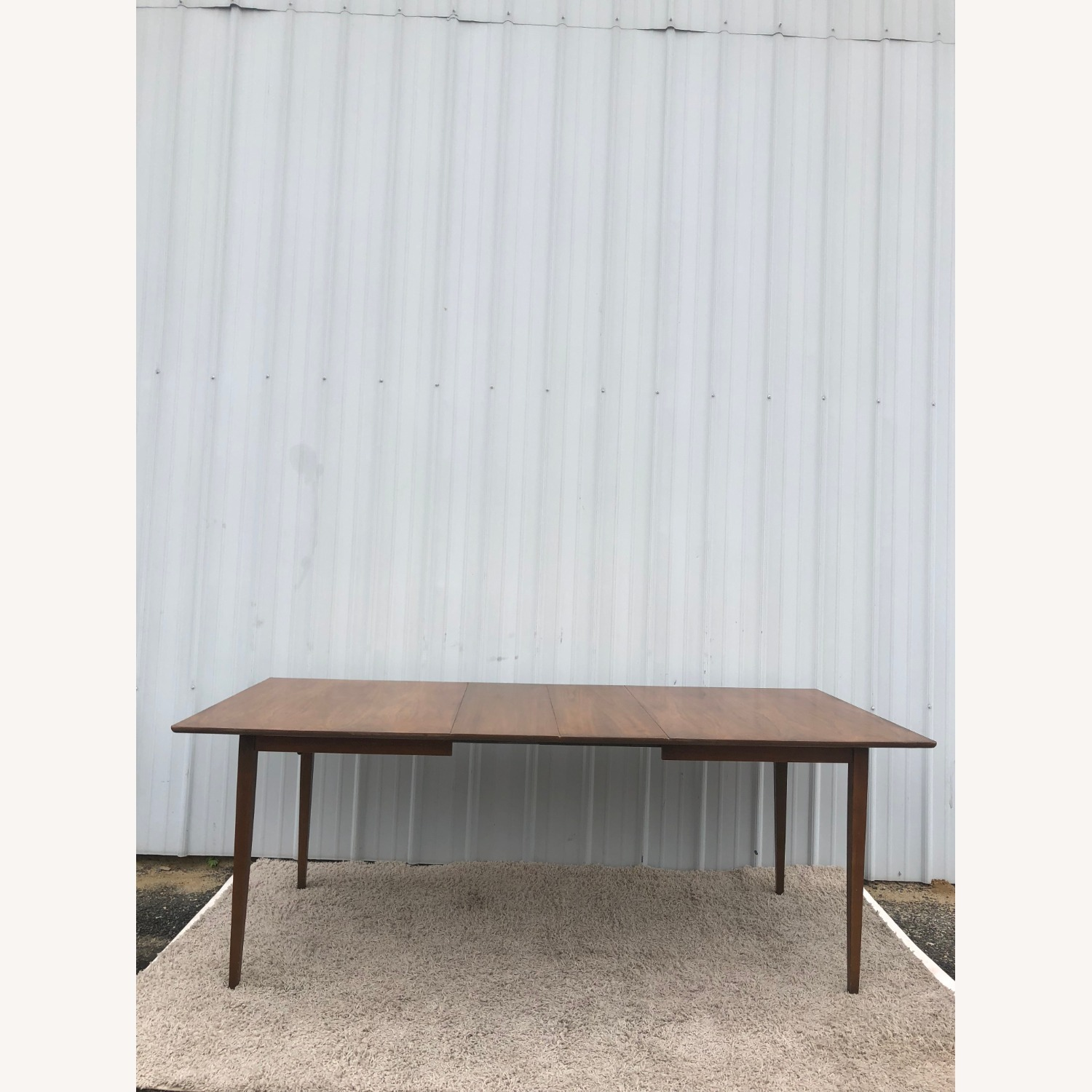Mid Century Walnut Dining Table with 2 Leafs - image-21