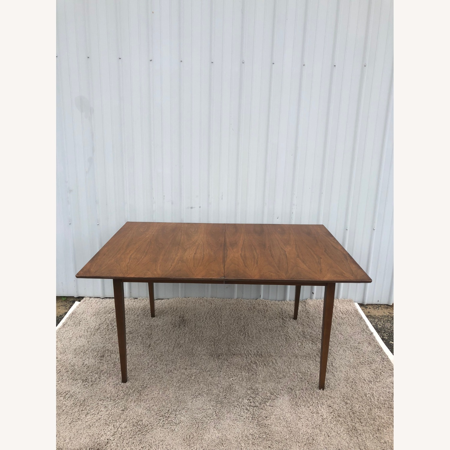 Mid Century Walnut Dining Table with 2 Leafs - image-1