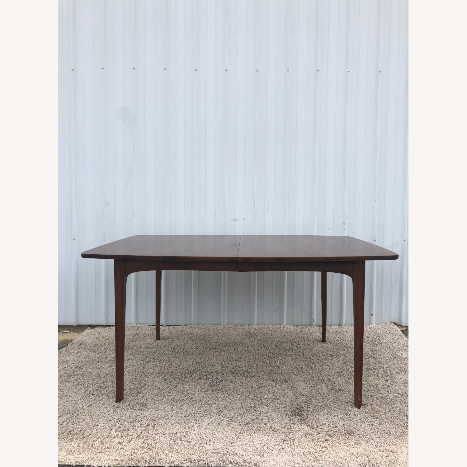 Mid Century Walnut Dining Table with 3 Leafs - image-6