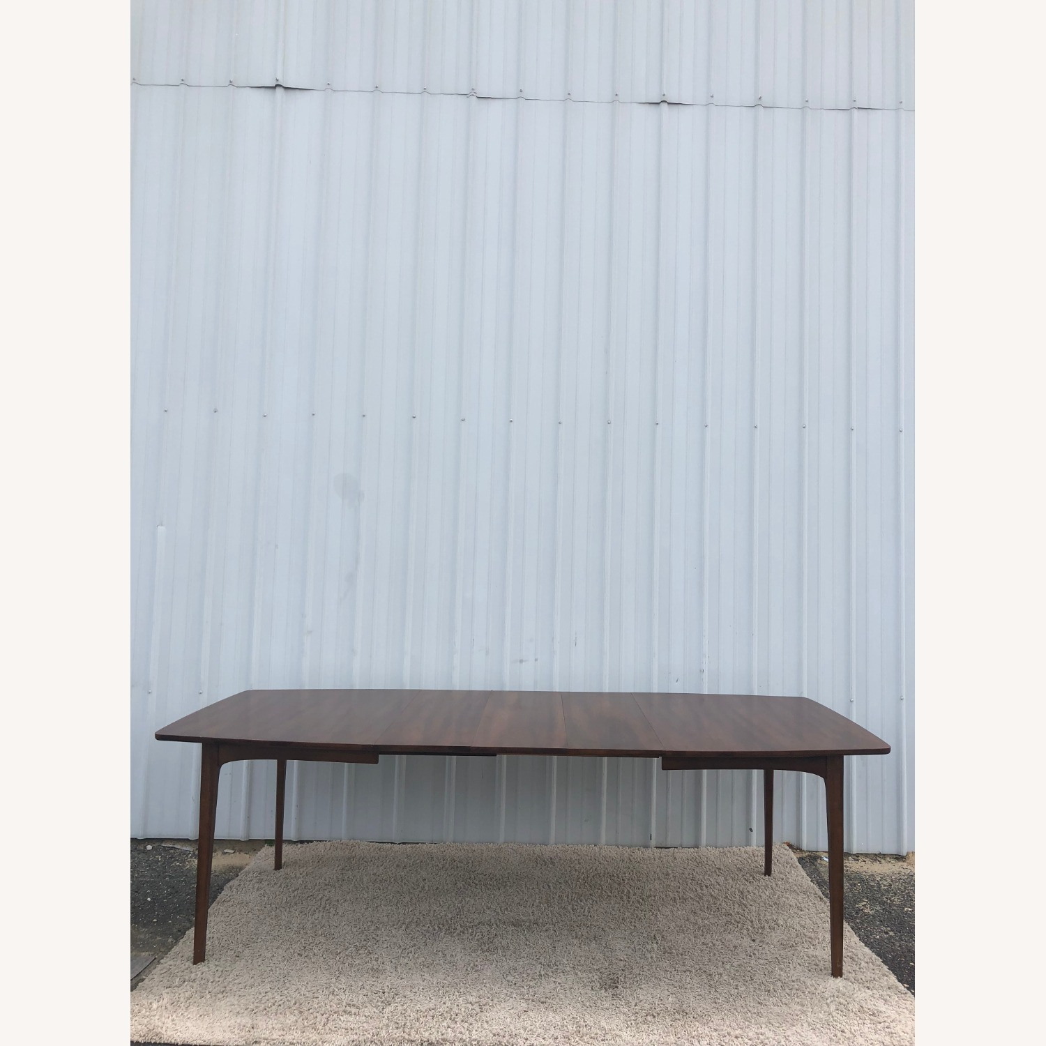 Mid Century Walnut Dining Table with 3 Leafs - image-9
