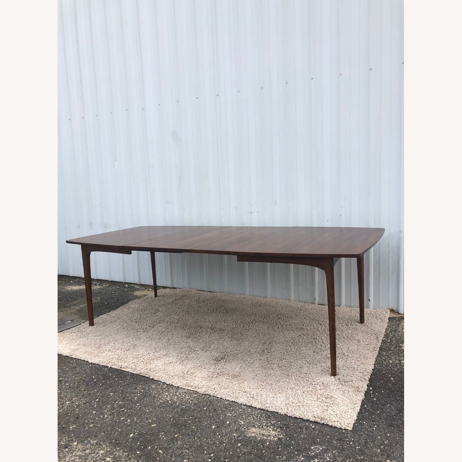Mid Century Walnut Dining Table with 3 Leafs - image-16