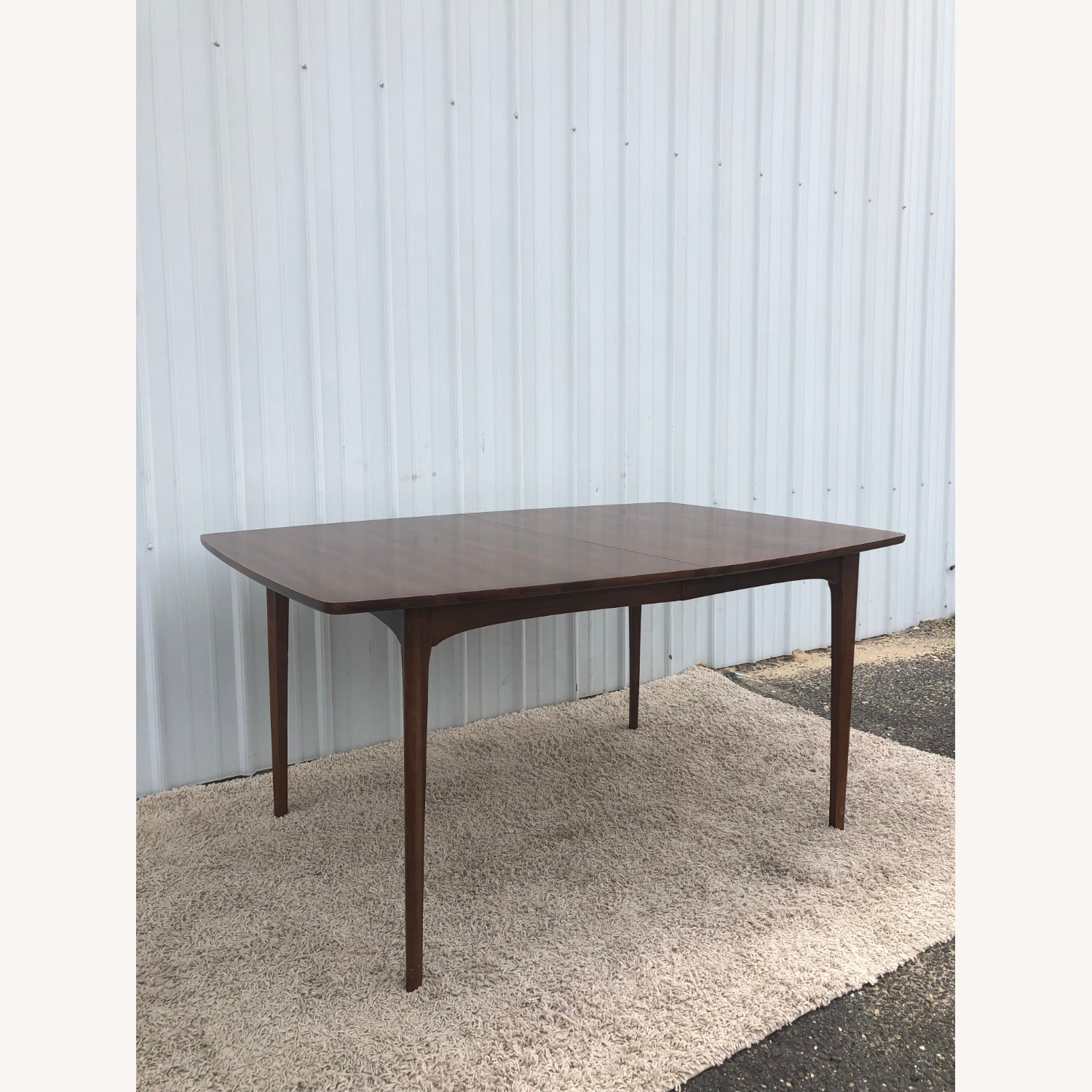 Mid Century Walnut Dining Table with 3 Leafs - image-5