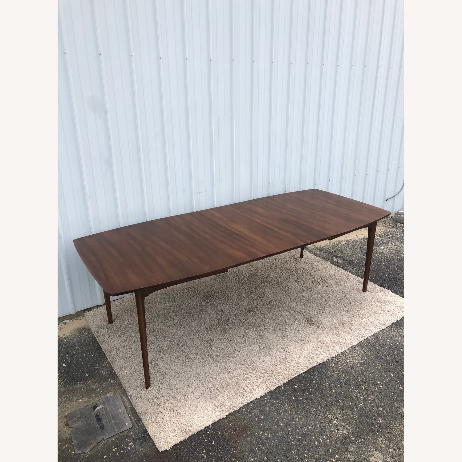 Mid Century Walnut Dining Table with 3 Leafs - image-13