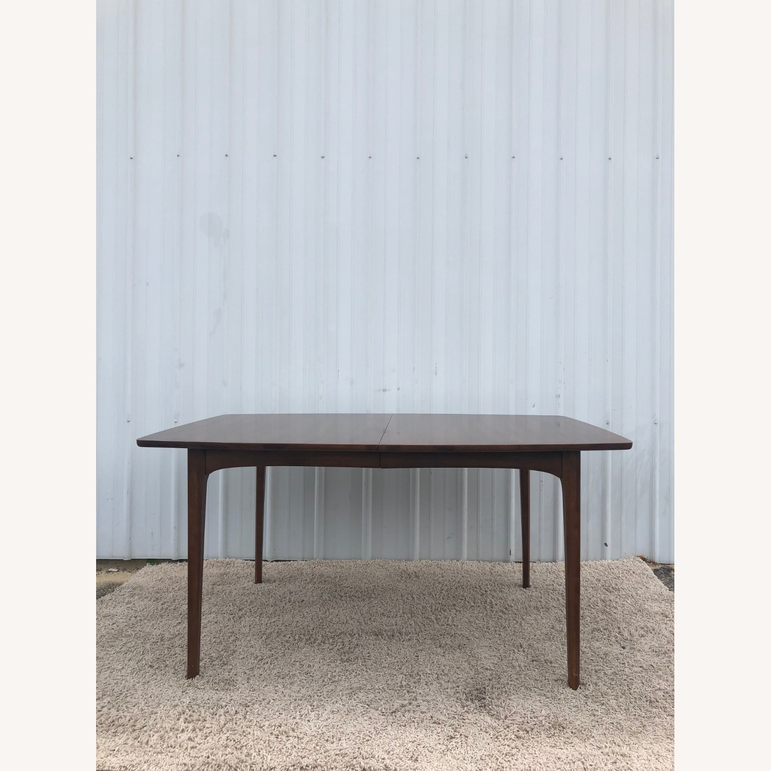 Mid Century Walnut Dining Table with 3 Leafs - image-1
