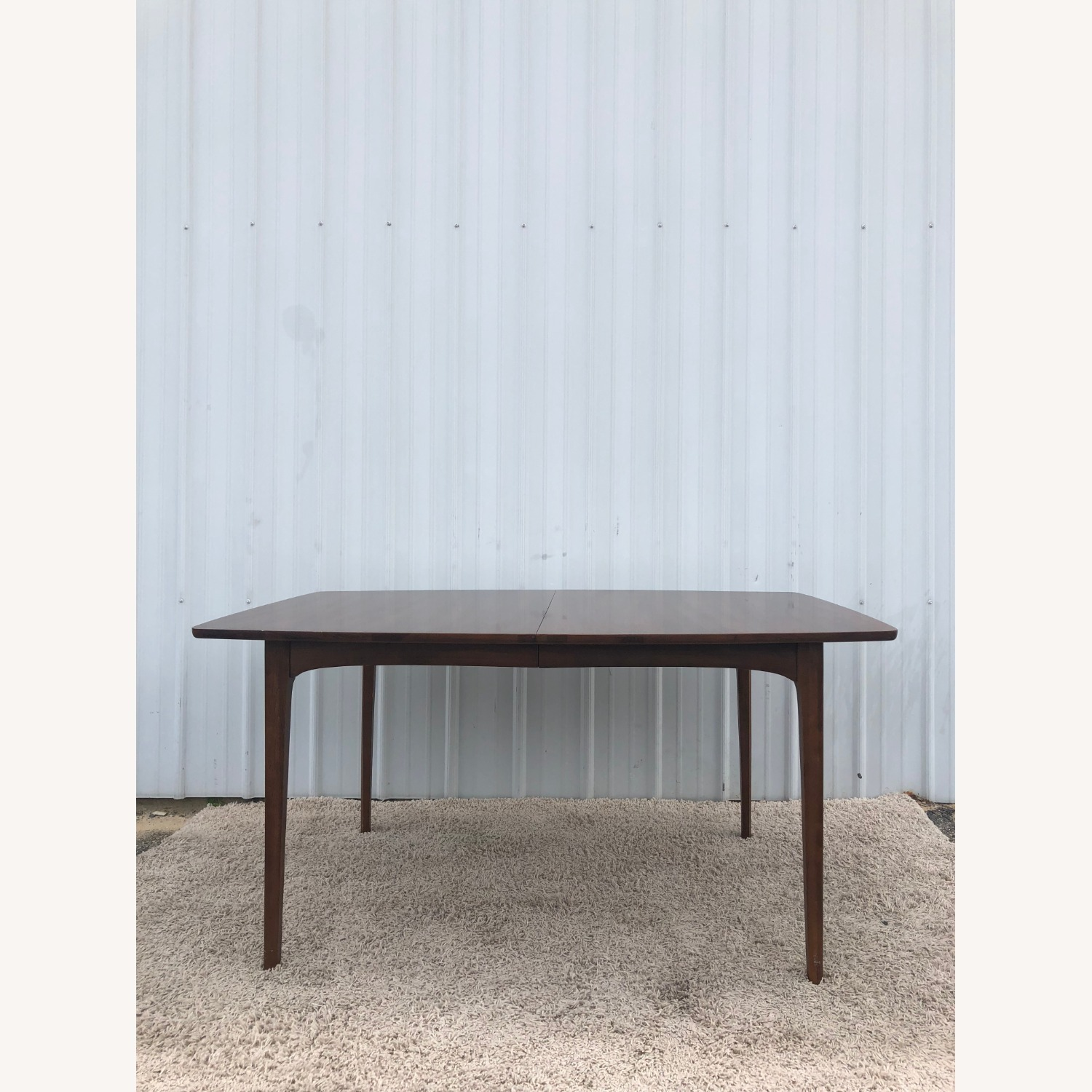 Mid Century Walnut Dining Table with 3 Leafs - image-0