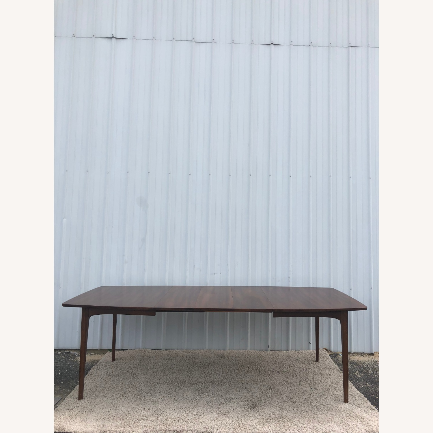 Mid Century Walnut Dining Table with 3 Leafs - image-10