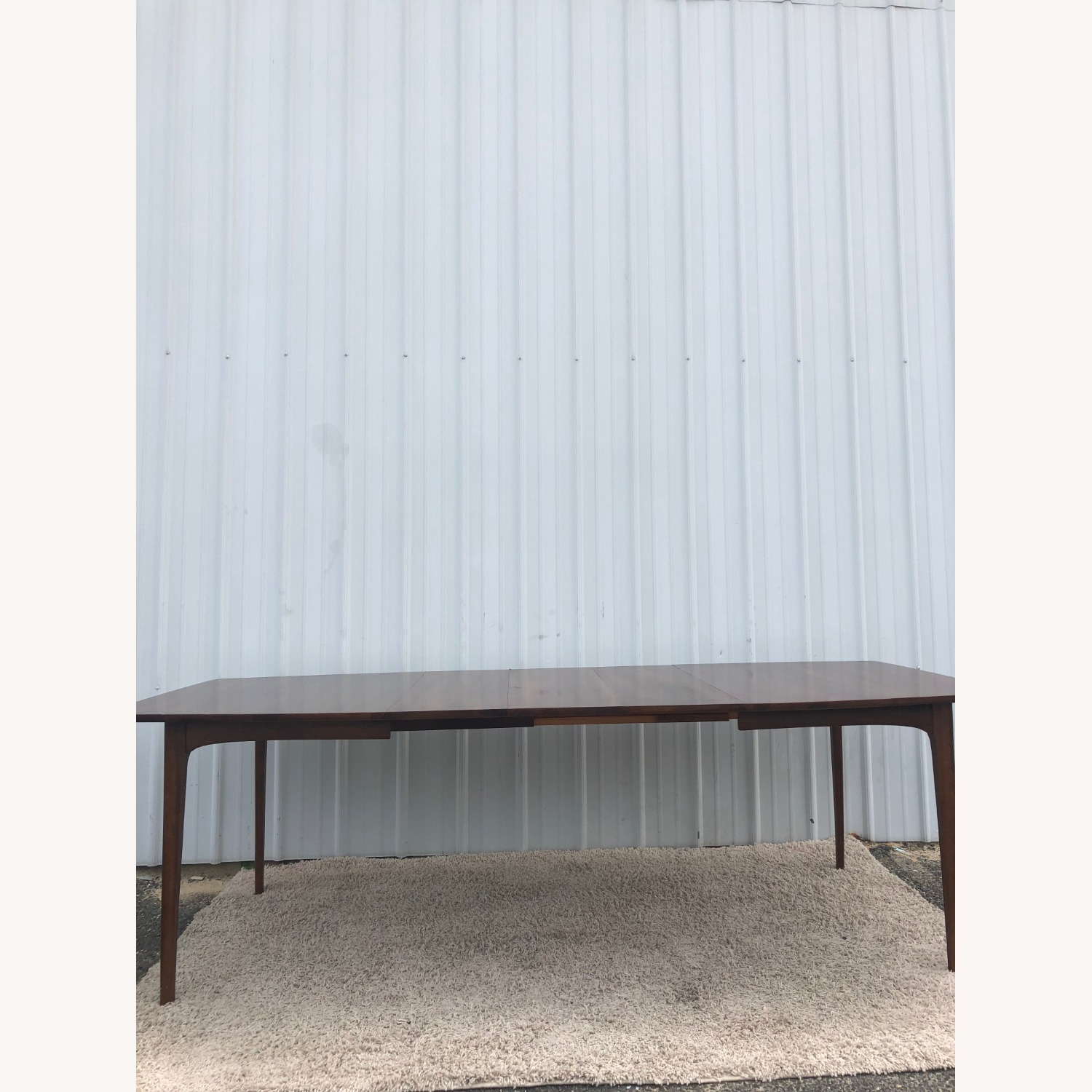 Mid Century Walnut Dining Table with 3 Leafs - image-14