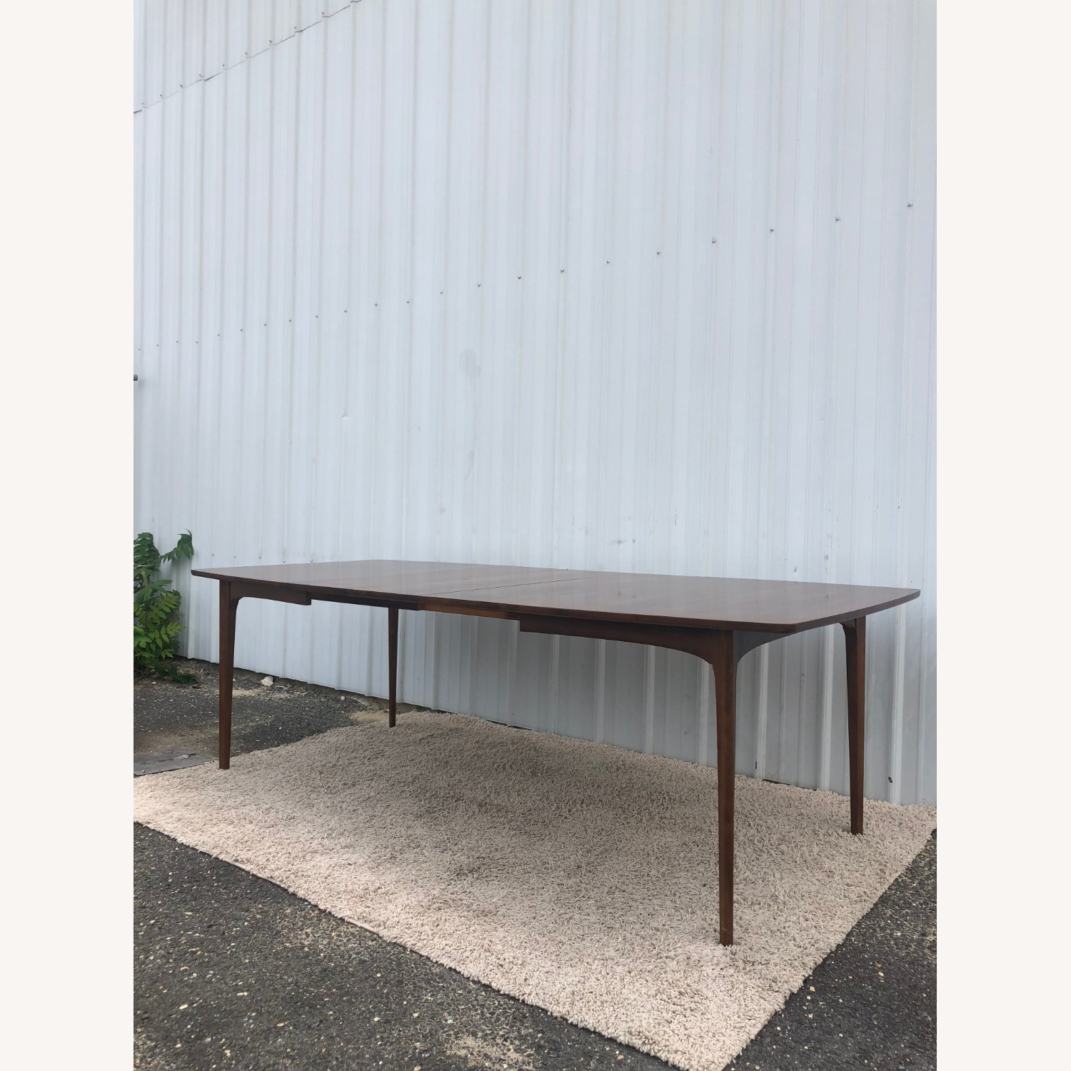 Mid Century Walnut Dining Table with 3 Leafs - image-15