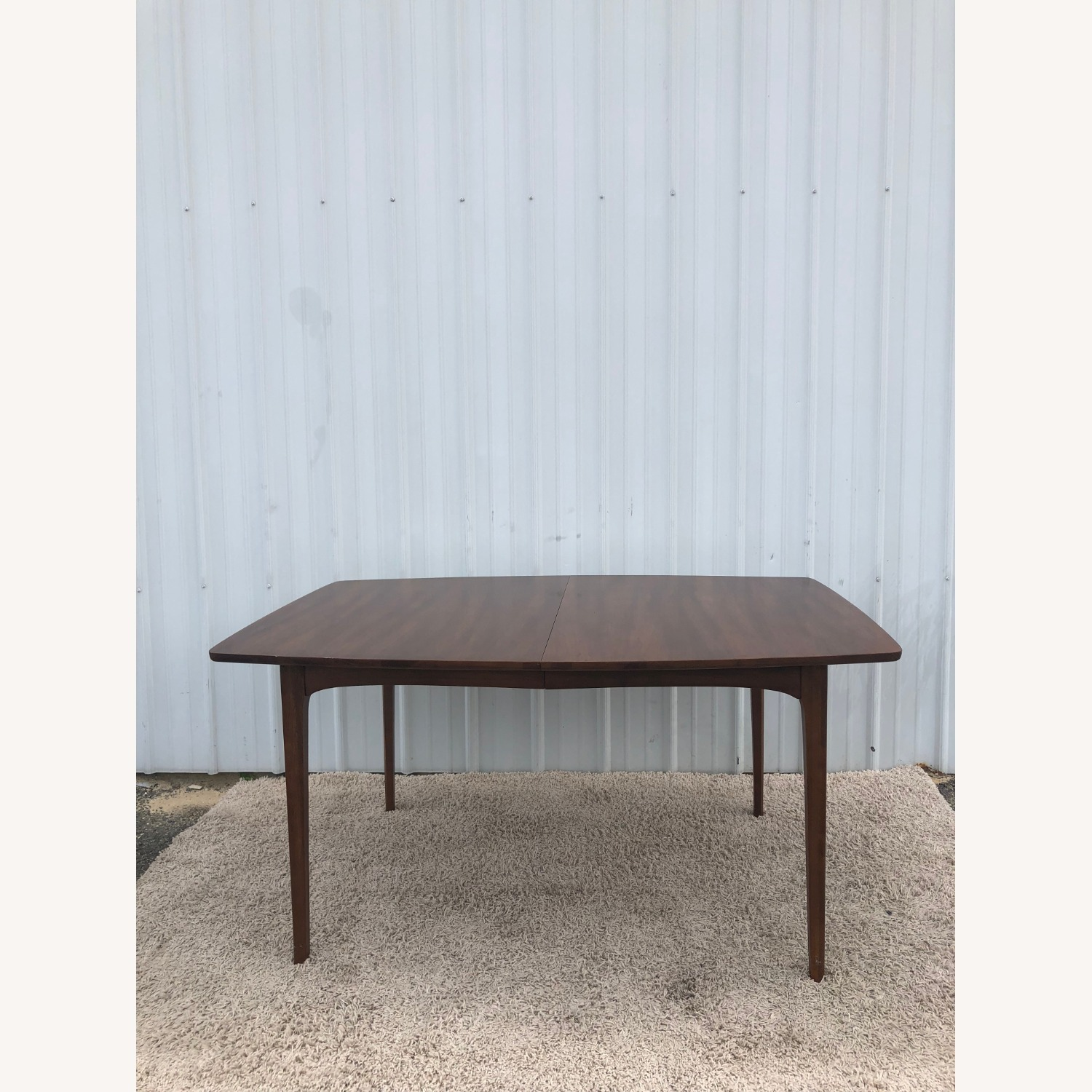 Mid Century Walnut Dining Table with 3 Leafs - image-8