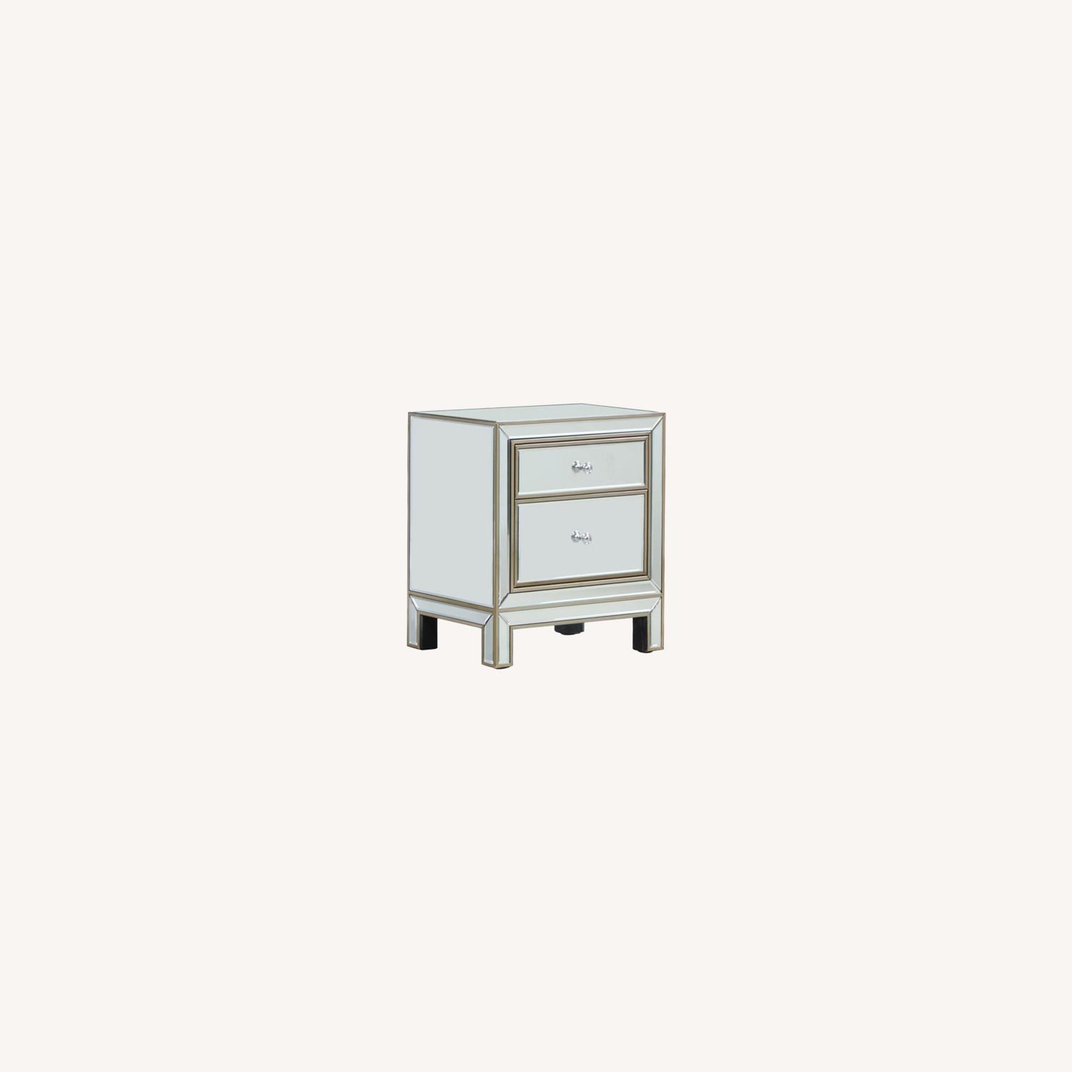 End Table In Silver & Champagne Finish - image-4