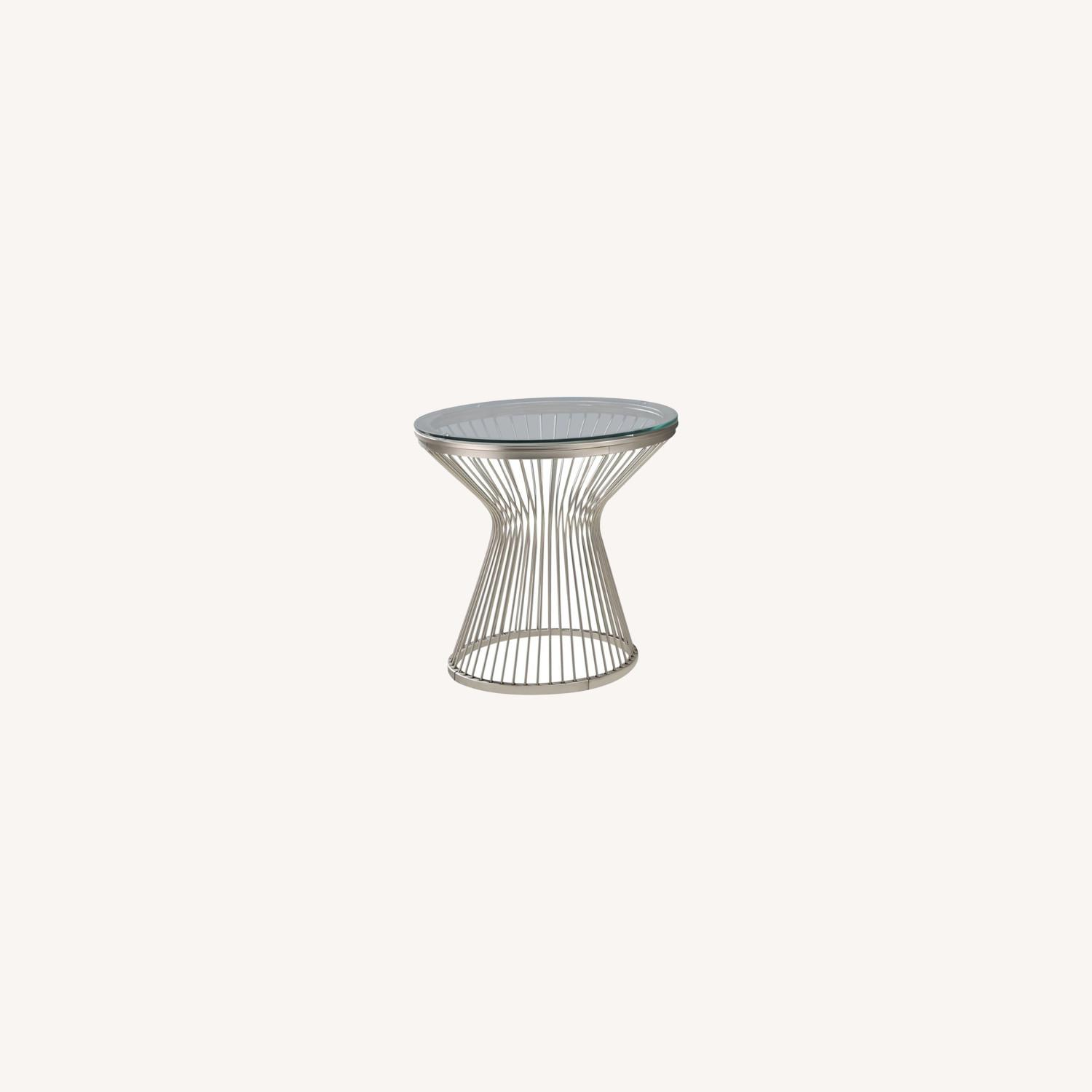 End Table In An Hourglass Shaped Base  - image-3