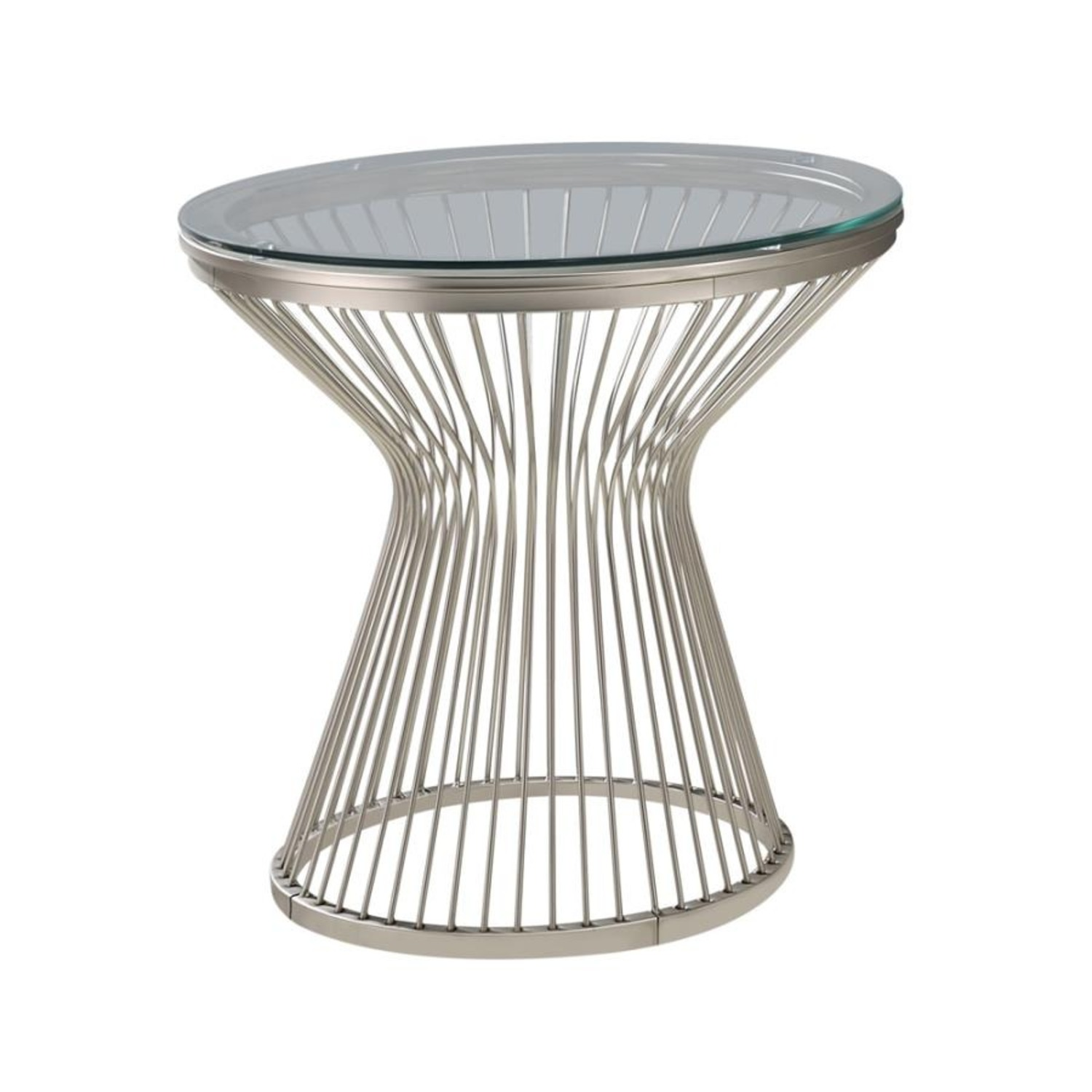 End Table In An Hourglass Shaped Base  - image-1
