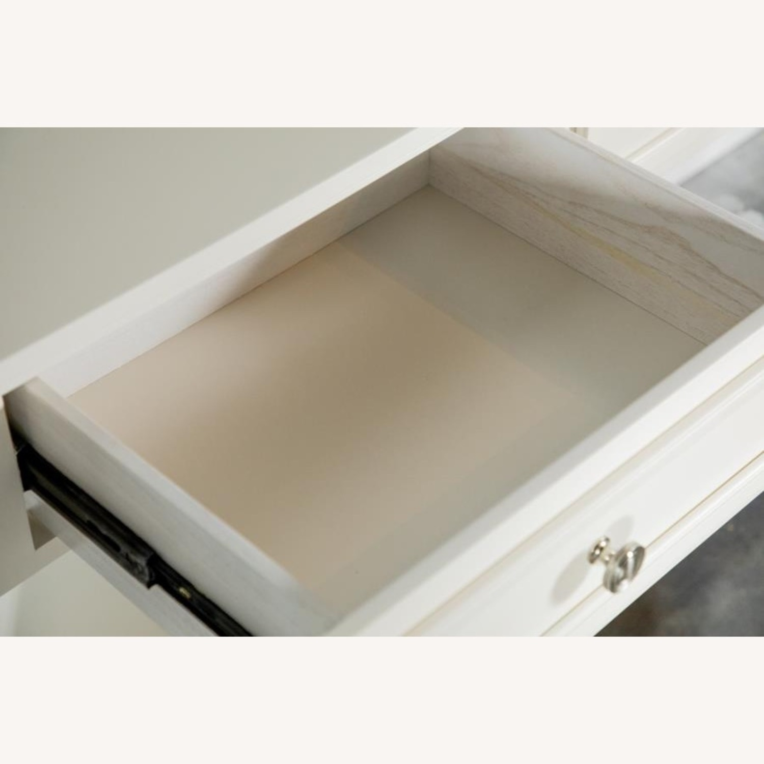 Coffee Table In Brushed Nickel W/ 2 Drawers - image-2