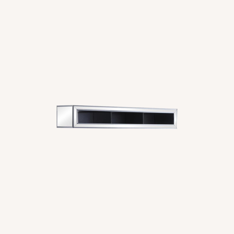 Media Bridge W/ Storage In Silver Finish - image-3