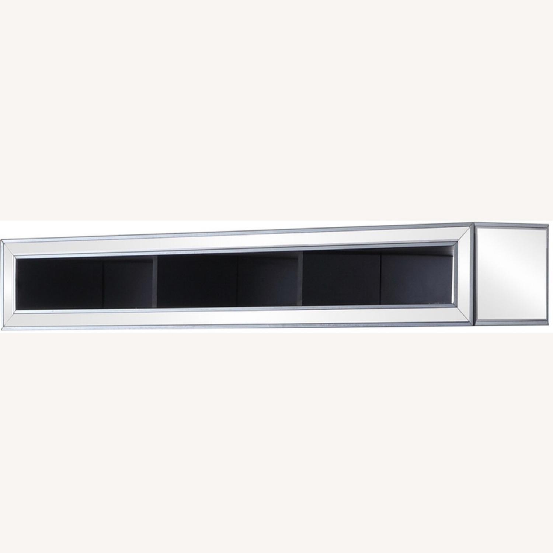 Media Bridge W/ Storage In Silver Finish - image-1