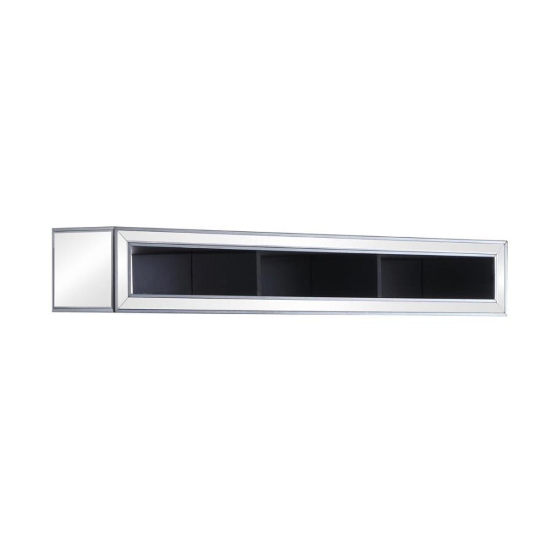 Media Bridge W/ Storage In Silver Finish - image-0