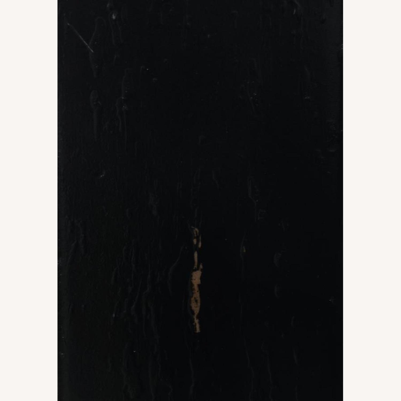 Solid Wood Writing Desk In Vintage Black Finish - image-2