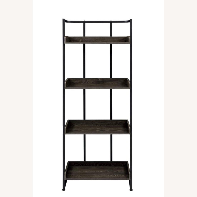 4-Shelves Bookcase In Dark Oak Finish - image-1