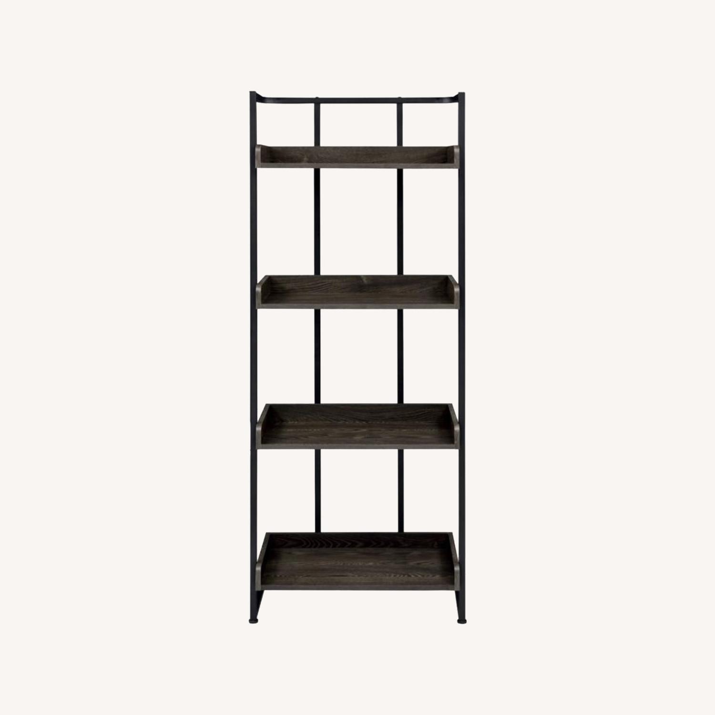 4-Shelves Bookcase In Dark Oak Finish - image-5