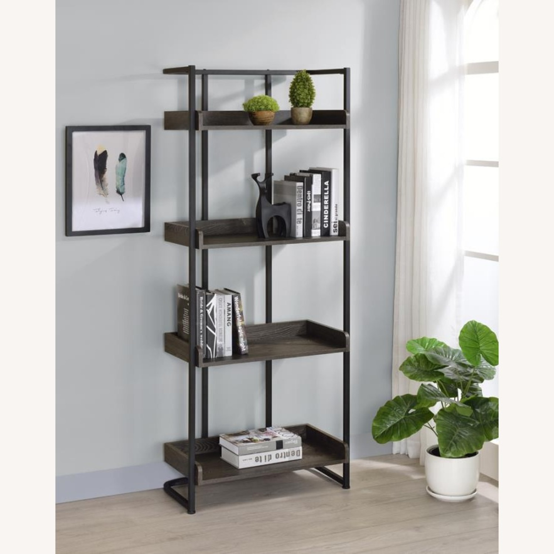 4-Shelves Bookcase In Dark Oak Finish - image-4