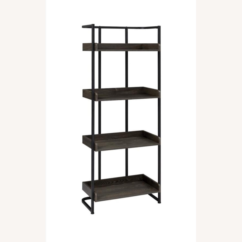 4-Shelves Bookcase In Dark Oak Finish - image-0
