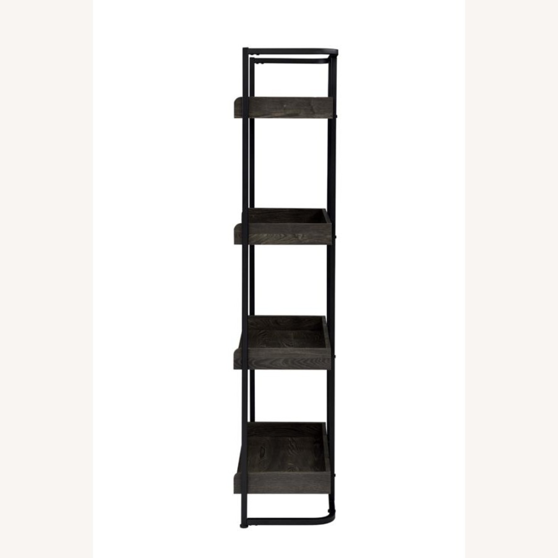 4-Shelves Bookcase In Dark Oak Finish - image-2
