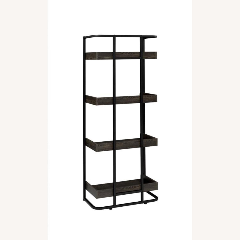 4-Shelves Bookcase In Dark Oak Finish - image-3