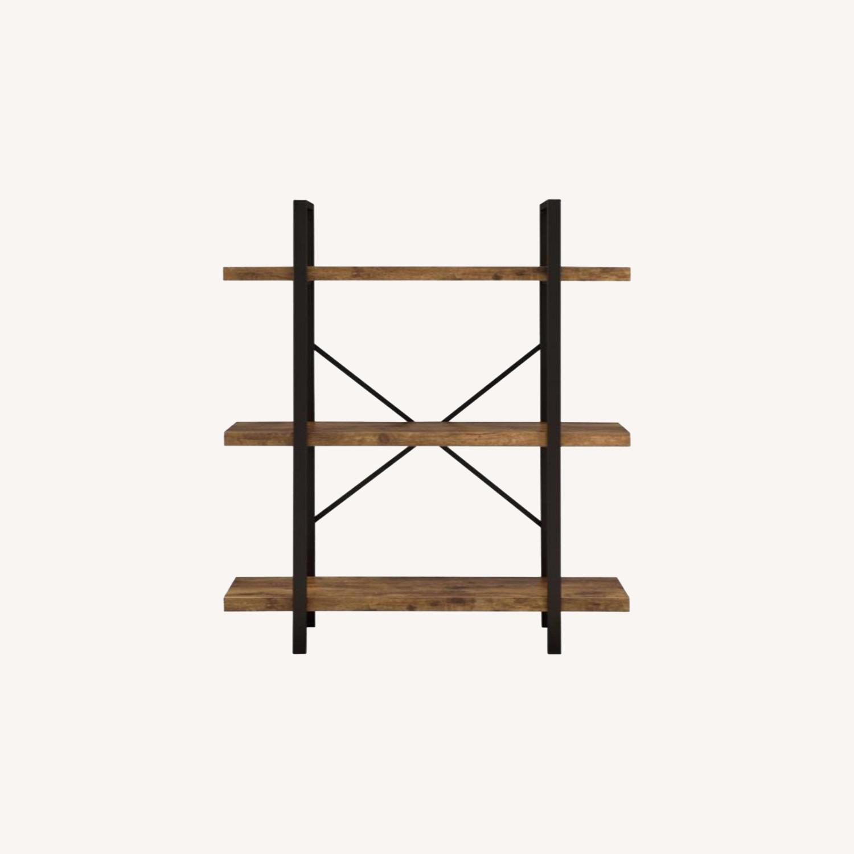 Bookcase W/ 3 Shelves In Antique Nutmeg Finish - image-5