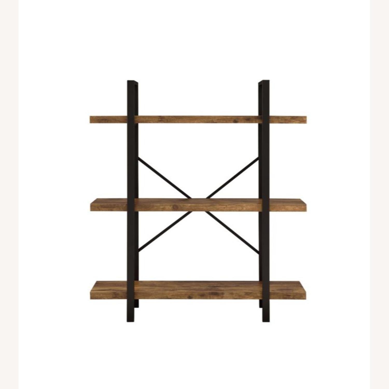 Bookcase W/ 3 Shelves In Antique Nutmeg Finish - image-1