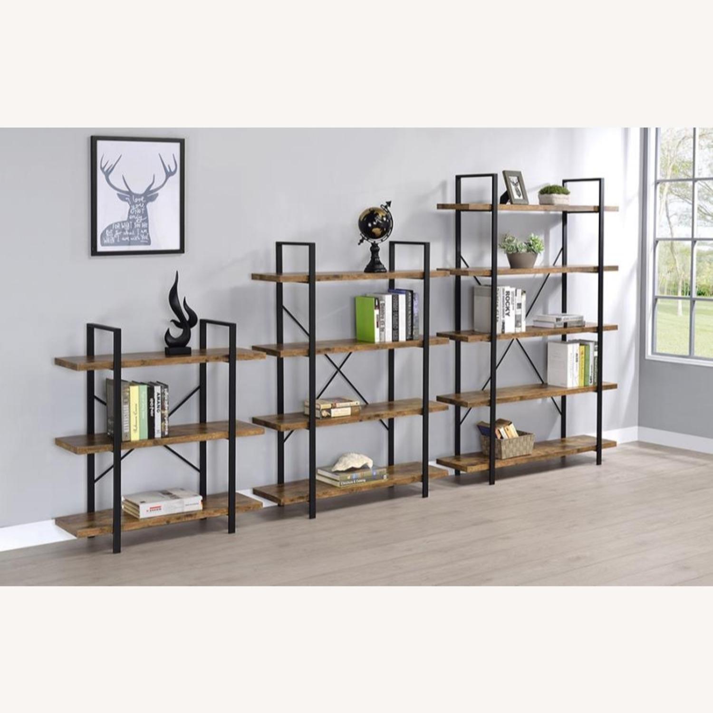 Bookcase W/ 3 Shelves In Antique Nutmeg Finish - image-4