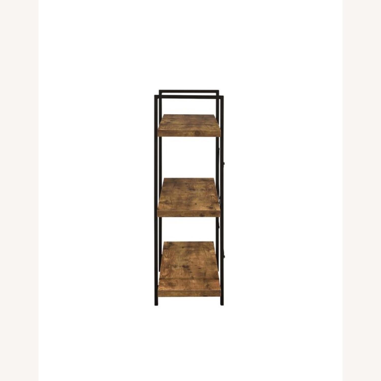 Bookcase W/ 3 Shelves In Antique Nutmeg Finish - image-2