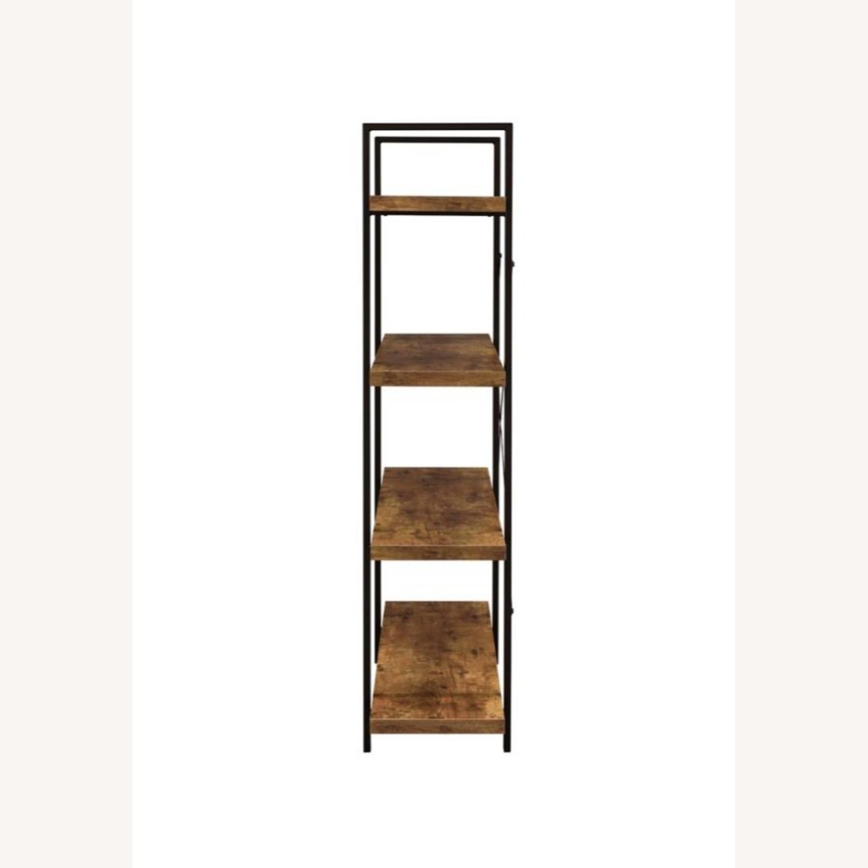 Bookcase W/ 4 Shelves In Antique Nutmeg Finish - image-2