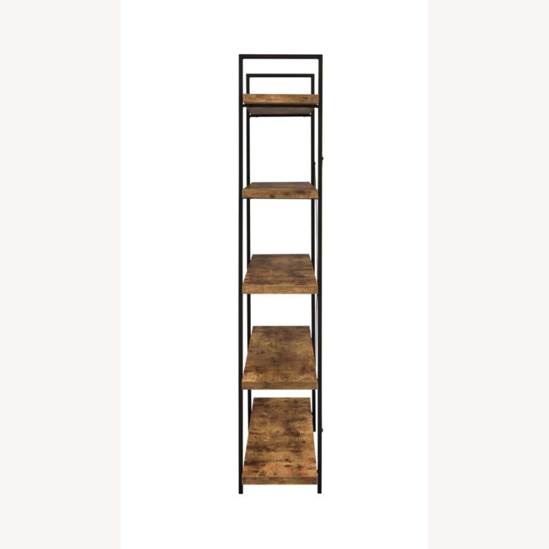 Bookcase W/ 5 Shelves In Antique Nutmeg Finish - image-2