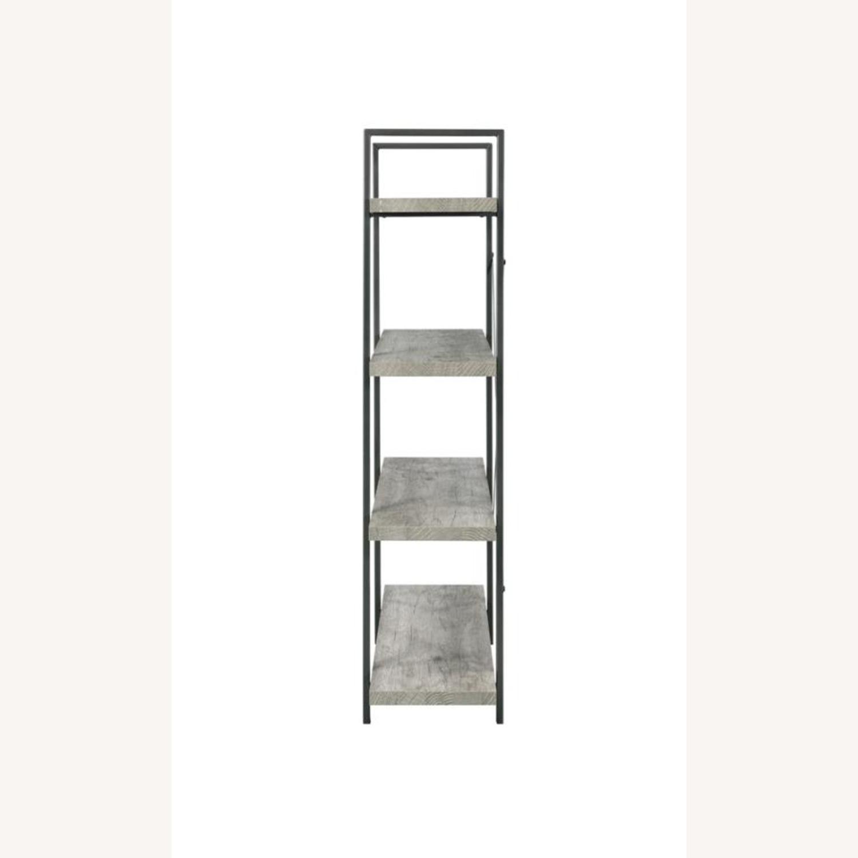 Bookcase W/ 4 Shelves In Grey Driftwood Finish - image-2