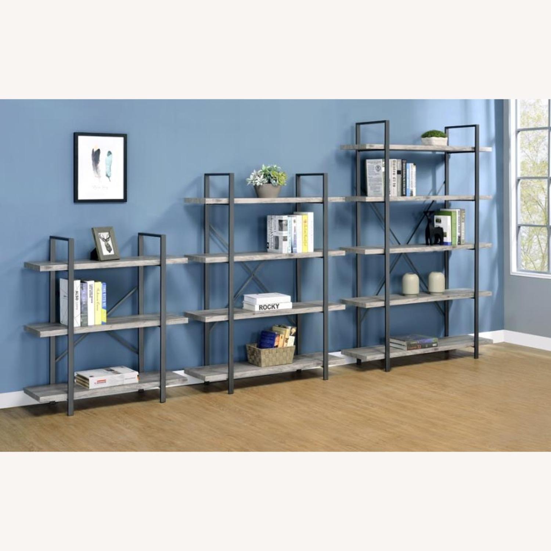 Bookcase W/ 4 Shelves In Grey Driftwood Finish - image-4