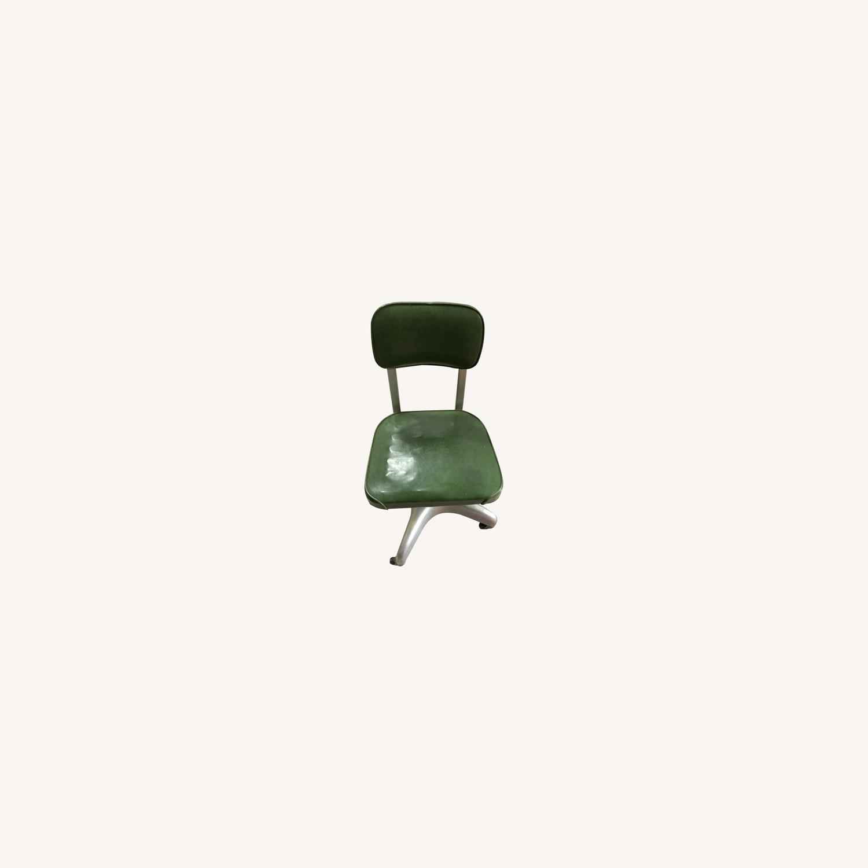 Globe Wernicke Vintage Mcm Metal Desk Chair Aptdeco