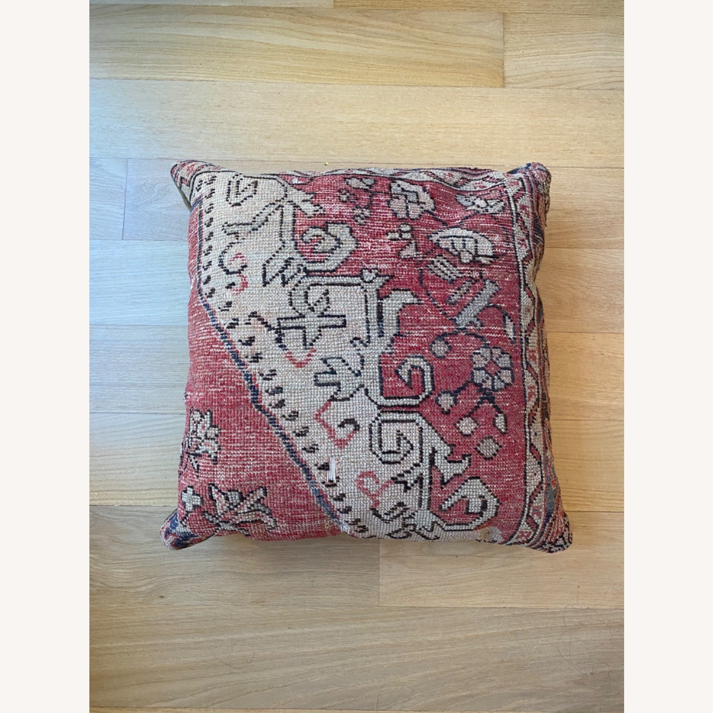 Vintage Wool Throw Pillow - image-2