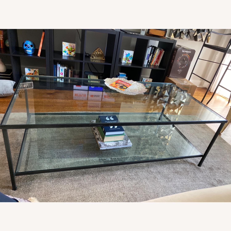 Pottery Barn Iron & Glass Coffee Table - image-4