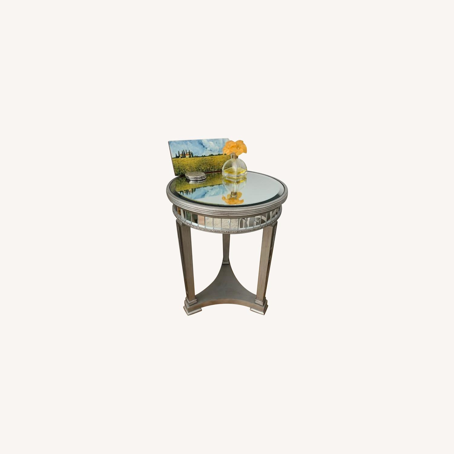 Mirrored Side Table - image-0