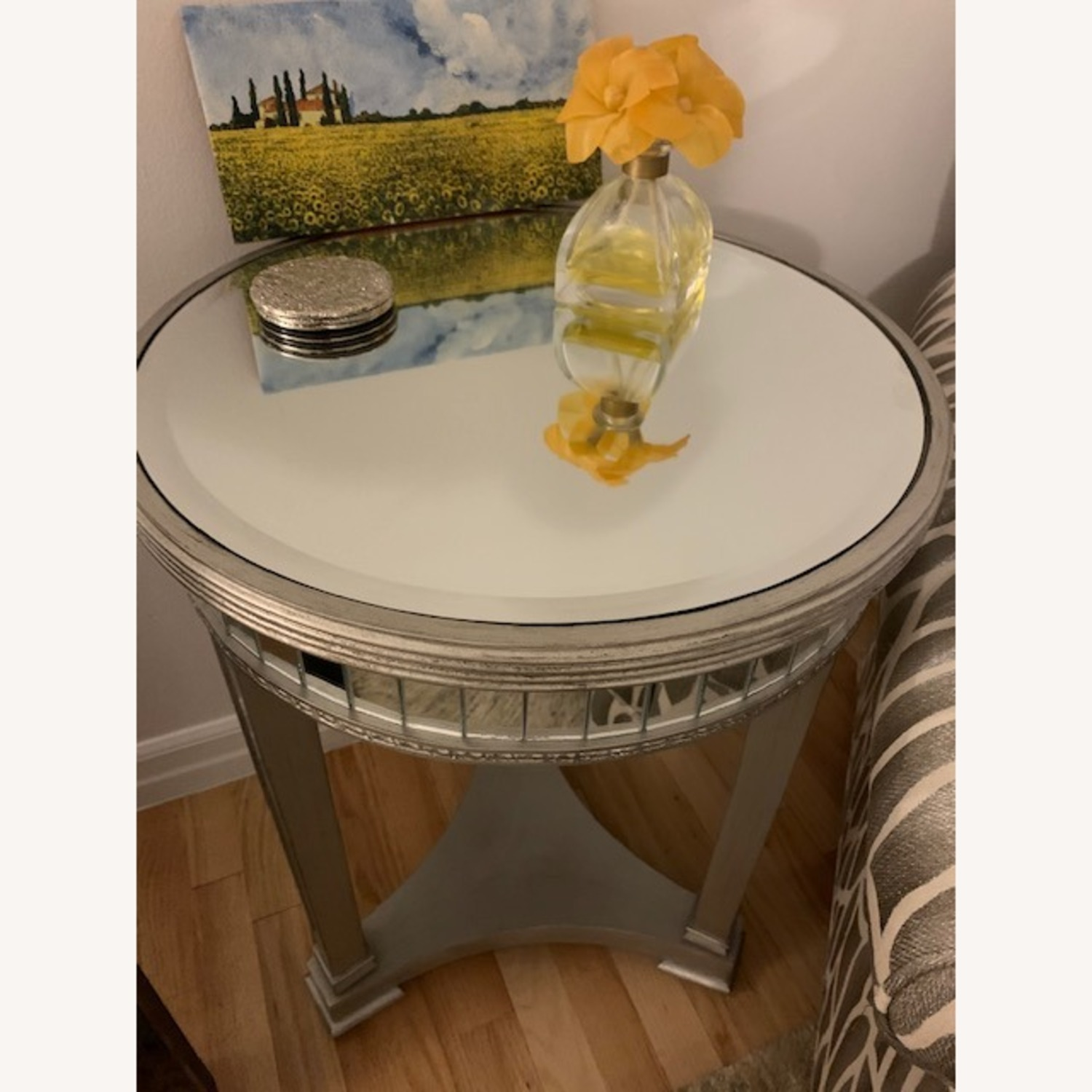 Mirrored Side Table - image-1