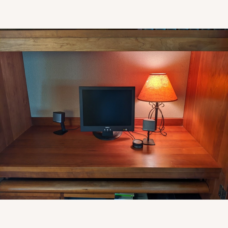 Stickley Oak Armoire Desk - image-4