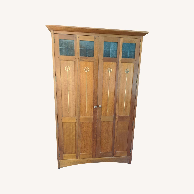 Stickley Oak Armoire Desk - image-0