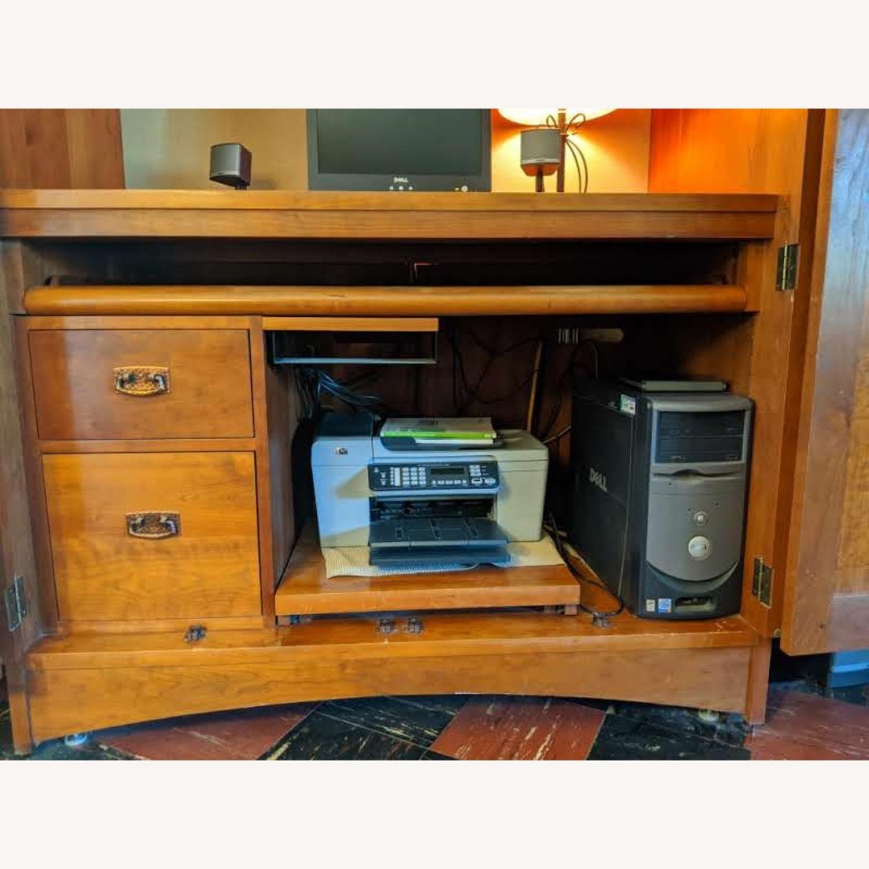 Stickley Oak Armoire Desk - image-3